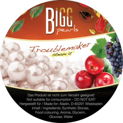 BIGG Pearls Troublemaker (szőlő–vörösáfonya) vízipipa ásvány