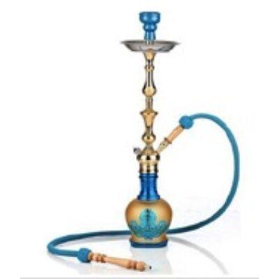 Aladin Inca 67 cm vízipipa — türkízkék-arany