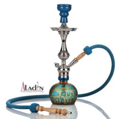 Aladin Koufy 43 cm vízipipa — türkízkék