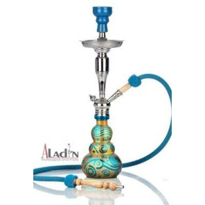 Aladin Loop 55 cm vízipipa — türkízkék-arany