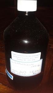 glicerines üveg