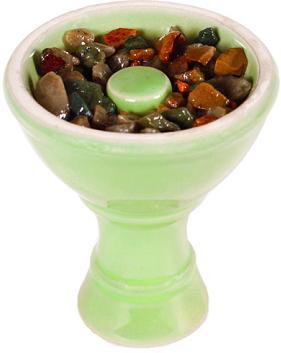 shiazo kristályok a kerámiában, használatra kész